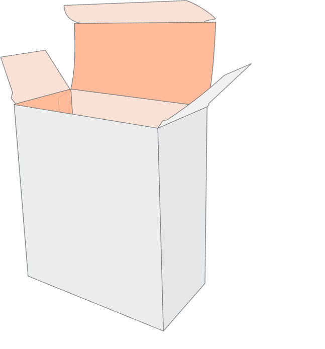 box with length depth and width